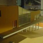 Vista Laterale Del Modello Architettonico In Cui Risulta Evidente Lo Sbalzo Della Struttura A Sud In Direzione Panoramica